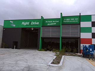 Commercial car repair shop painted by Luxe Painting Perth