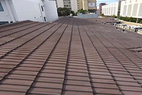 Before Roof restoration treatment in Perth